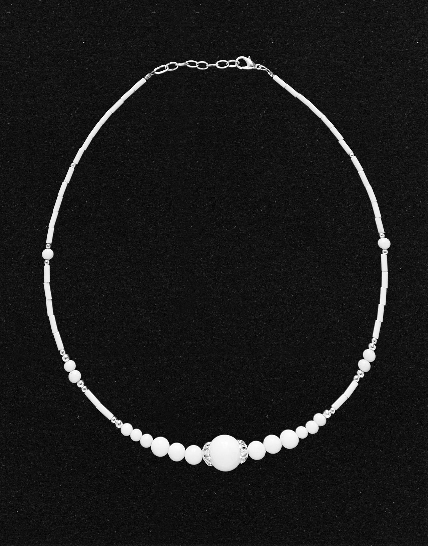 Collier Thalia Onyx blanc