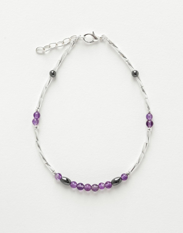 Bracelet de cheville Calliope Thalia Améthyste