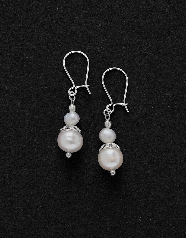 Boucles d ' oreilles Calliope Thalia Perle