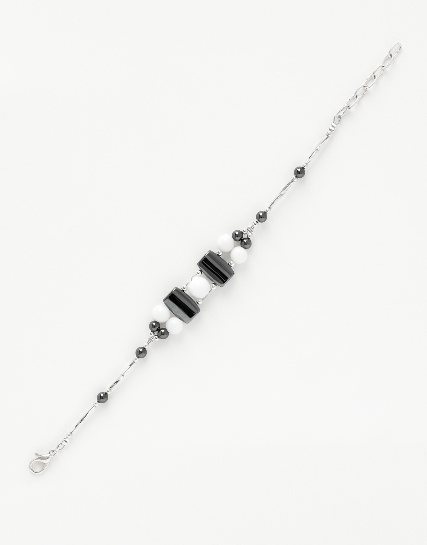 Bracelet Calliope Thalia Onyx blanc