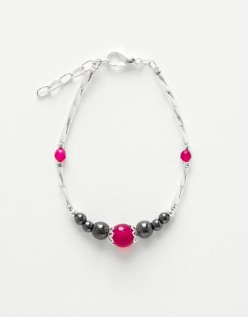 Bracelet Calliope Thalia Agate fuchsia