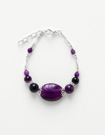 Bracelet Calliope Thalia Agate violette