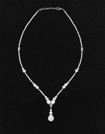 Collier Calliope Onyx blanc