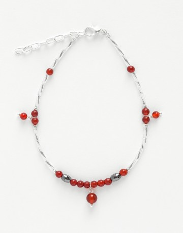 Bracelet de cheville Calliope Thalia Cornaline