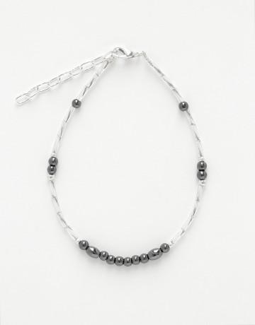 Bracelet de cheville Calliope Thalia Hématite