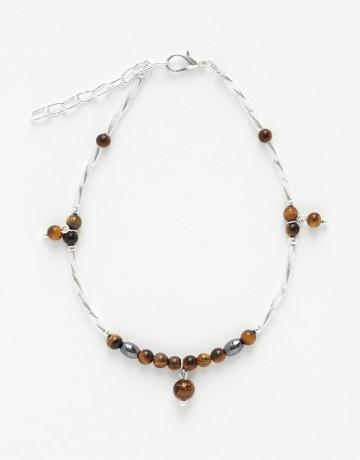 Bracelet de cheville Calliope Thalia Oeil-de-tigre