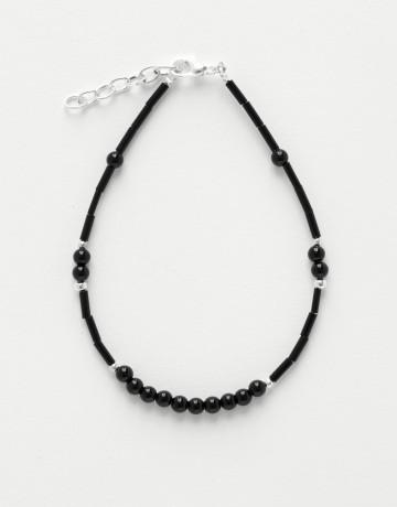Bracelet de cheville Calliope Thalia Onyx noir