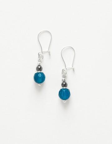 Boucles d ' oreilles Calliope Thalia Agate bleue