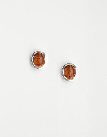 Boucles d'oreilles Polymnie Ambre