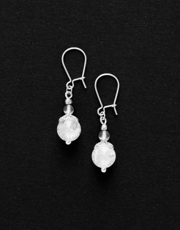 Boucles d oreilles Thalia Cristal de roche