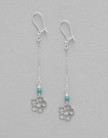 Boucles d' oreilles Turquoise Uranis