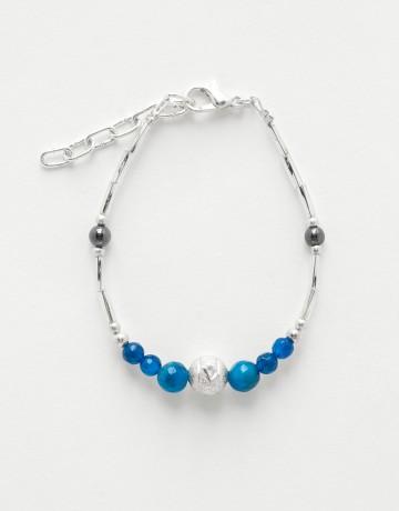Bracelet Calliope Thalia Agate bleue