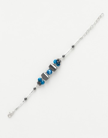 Bracelet Agate bleue Calliope Thalia