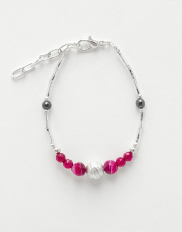 Bracelet Calliope Thalia fuchsia Agate
