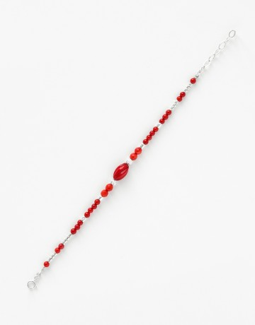 Bracelet Uranis Corail Rouge