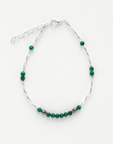 Bracelet de cheville Calliope Thalia Malachite