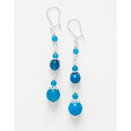Boucles d oreilles Thalia Agate bleue