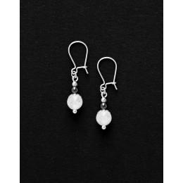 Boucles d ' oreilles Calliope Thalia Cristal de roche