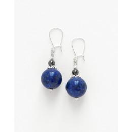 Boucles d ' oreilles Calliope Thalia Lapis-Lazuli