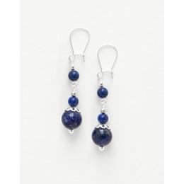 Boucles d oreilles Thalia Lapis-Lazuli