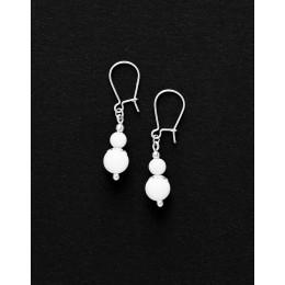 Boucles d ' oreilles Calliope Thalia Onyx blanc