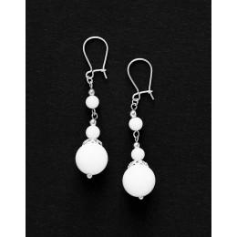 Boucles d oreilles Thalia Onyx blanc