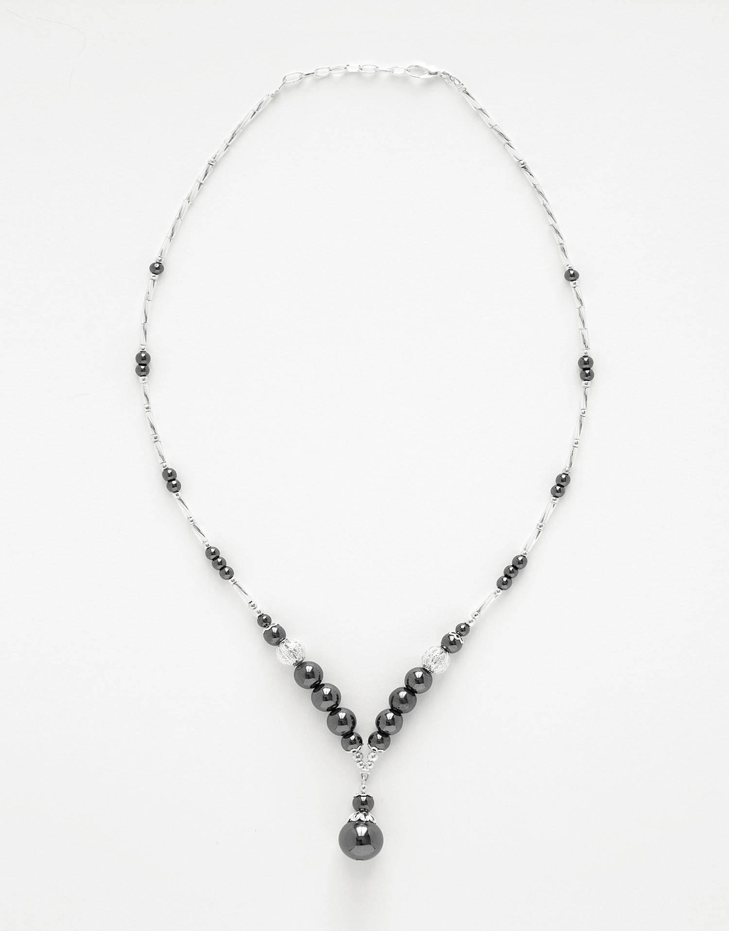 Necklace Calliope Hématite