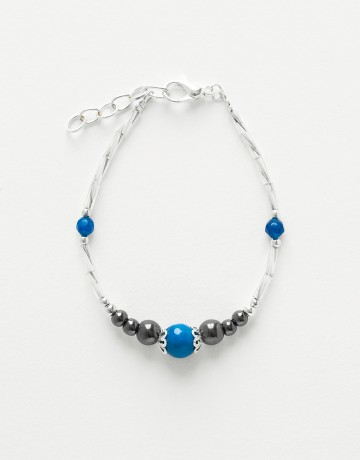 Bracelet Calliope Thalia blue Agate