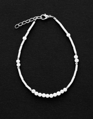 Ankle Bracelet Calliope Thalia white Onyx