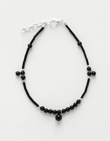 Ankle Bracelet Calliope Thalia black Onyx